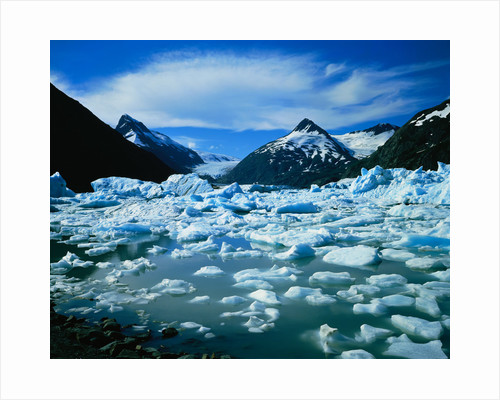 Icebergs in Portage Lake by Corbis