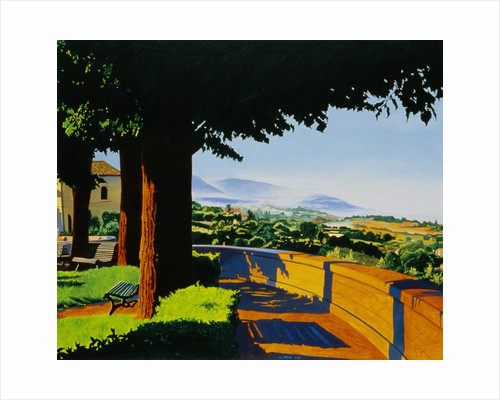 View of the Italian Countryside from a Park Path by Anne Belov