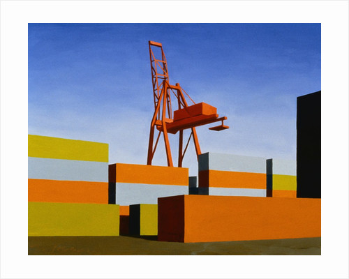 Containers with Crane by Mary Iverson