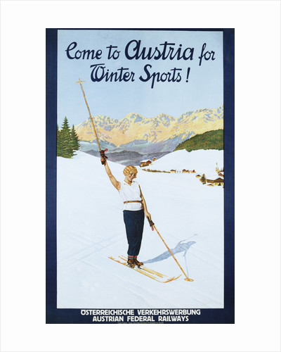 Austria for Winter Sports Poster by Corbis