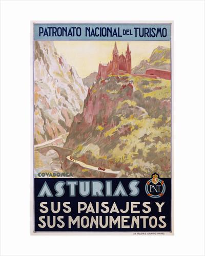 Asturias Sus Paisa Jes y Sus Monumentos Poster by Vaquero