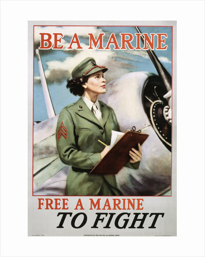 Be a Marine - Free a Marine to Fight Poster by Corbis