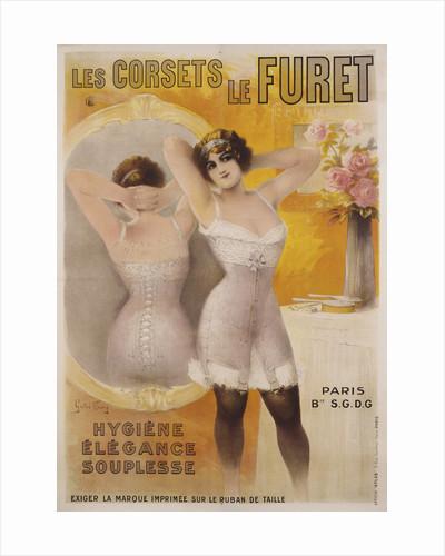 Les Corsets le Furet Poster by Gaston Noury