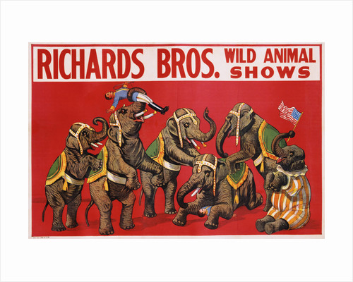 Richards Bros. Wild Animal Shows Poster by Corbis