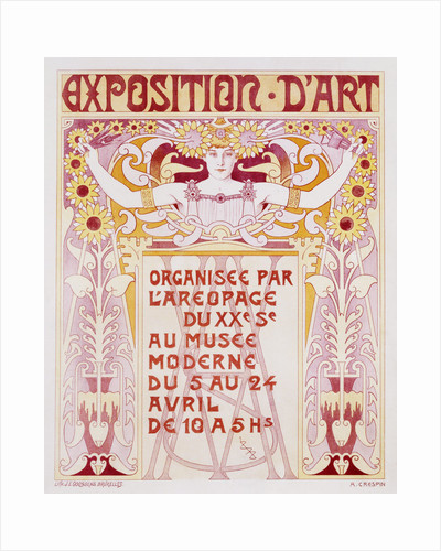 Exposition d'Art Poster by Adolphe Louis Charles Crespin