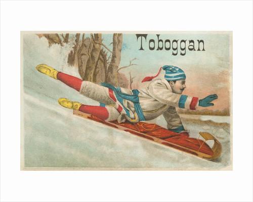 Toboggan Victorian Trading Card by Corbis