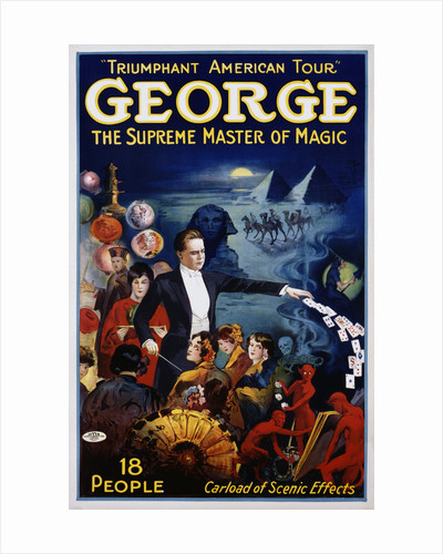 George The Supreme Master of Magic Poster by Corbis