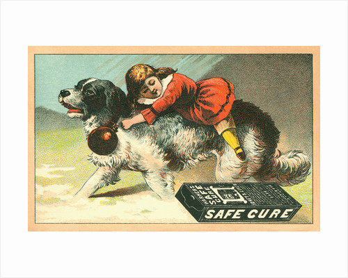 Warner's Safe Cure Trade Card with a St. Bernard and Child by Corbis