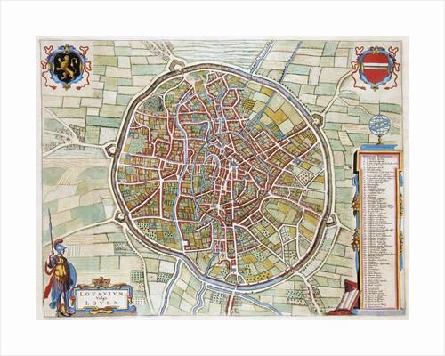 Lovanium Map of Louvain by Jan Blaeu