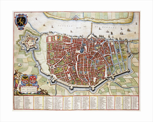 Antverpia Map of Antwerp by Jan Blaeu