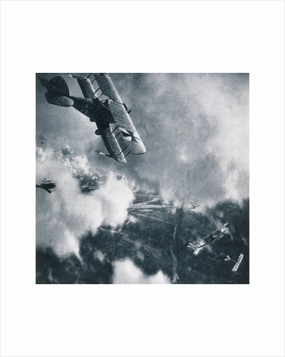 Aerial Combat on the Western Front, WWI Photogravure by Corbis
