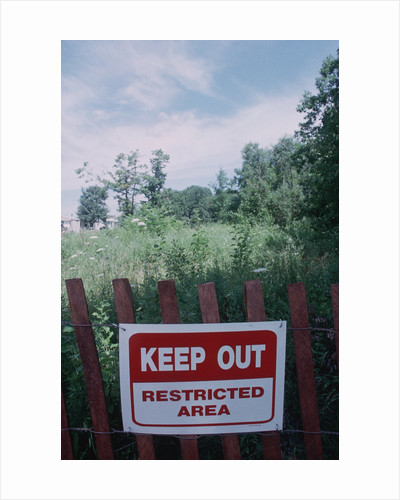 Toxic Site Warning Sign in Community near Love Canal by Corbis