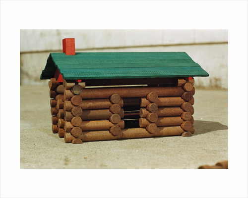 Toy Log Cabin by Corbis
