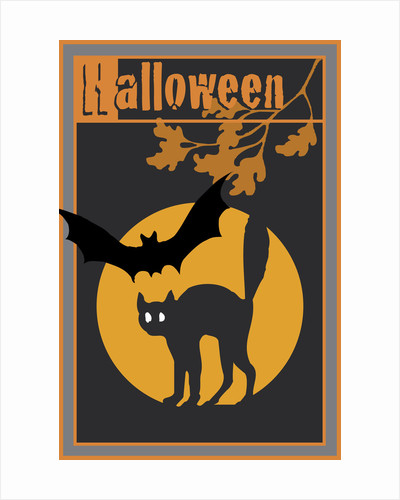 Halloween with a Black Cat by Studio