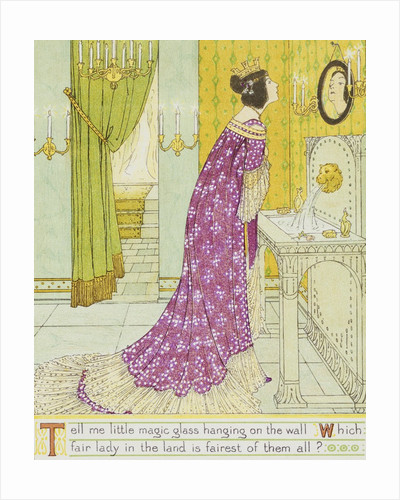 Book Illustration Depicting the Evil Queen by W.C. Drupsteen