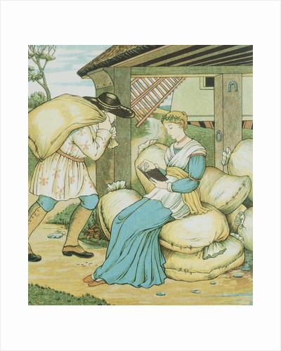 Rumpelstiltskin Book Illustration by George R. Halkett