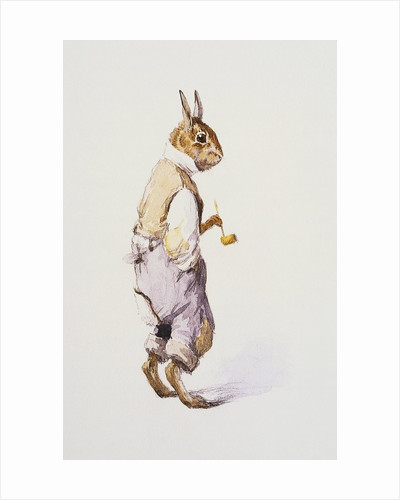 Illustration of Rabbit Character for The A.B. Frost Book by A.B. Frost