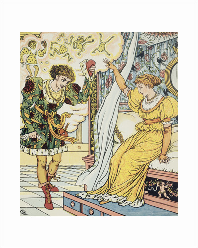 Frog Prince Book Illustration with Princess and Frog Prince by Walter Crane