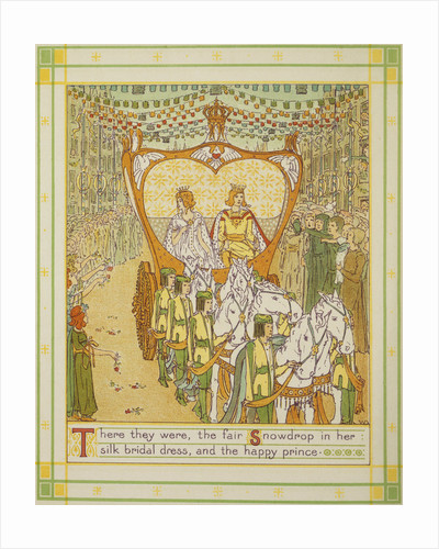Book Illustration Depicting the Wedding Procession of Snowdrop and the Prince by W.C. Drupsteen