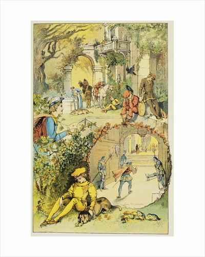Book Illustration Depicting Prince Phillip Discovering the Sleeping Castle by Corbis