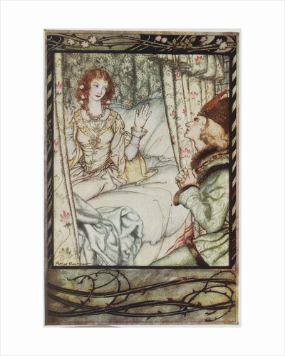Illustration Depicting Prince Philip Waking Sleeping Beauty by Arthur Rackham