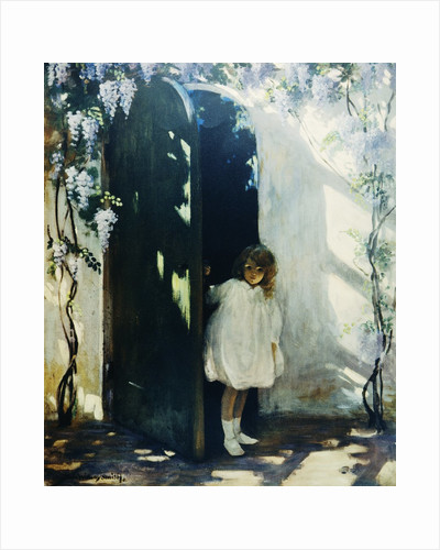 Poster of a Young Girl in a Doorway by Jessie Willcox Smith