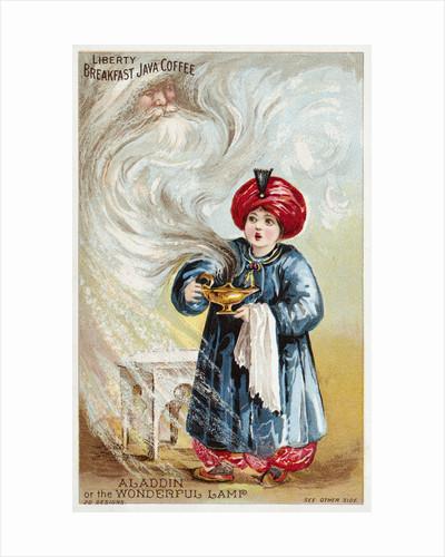Aladdin or the Wonderful Lamp Trade Card by Corbis