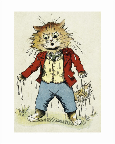 Poor Dad! Illustration by Louis William Wain