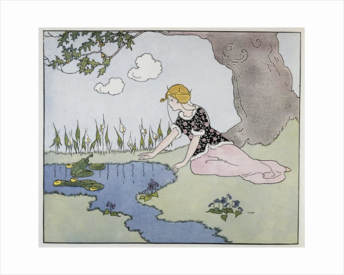 Illustration of a Princess and a Frog by Margaret Evans Price