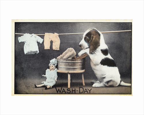 Wash-Day Postcard by Corbis