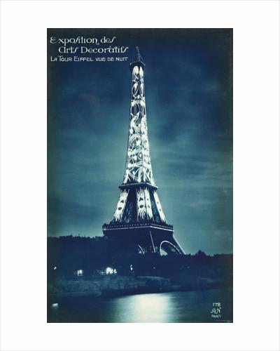 Exposition des Arts Decoratifs Postcard with the Eiffel Tower by Corbis