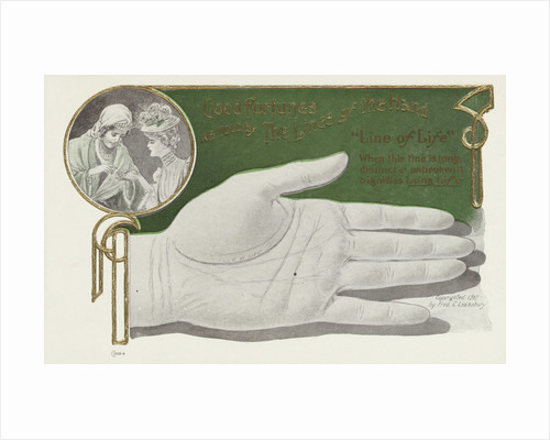 Good Fortunes as Told by the Lines of the Hand Postcard by Corbis
