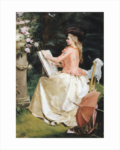 The Artist in the Garden by Gustave Jean Jacquet