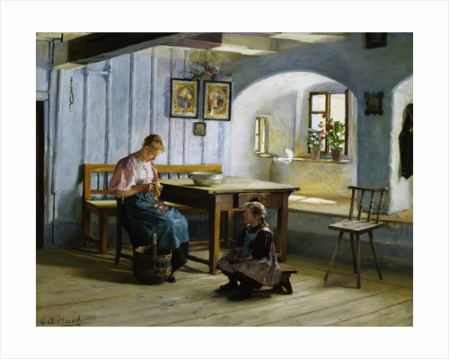 Making Apple Pie by Gustave Auguste Hessl