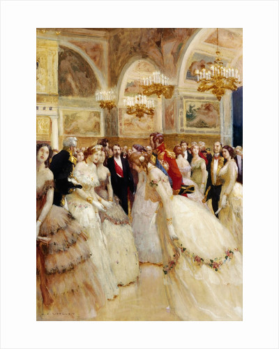 At the Ball by Auguste Francois Marie Gorguet