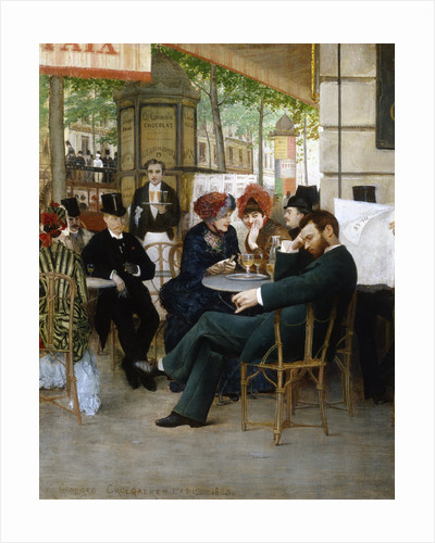 At the Cafe de la Paix by Georges Croegaert