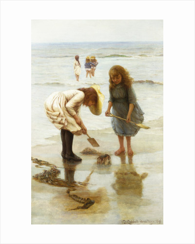 Playing on the Beach by Thomas Liddall Armitage
