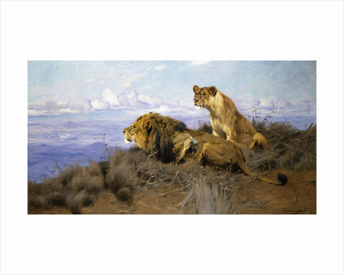 On the Lookout by Wilhelm Kuhnert