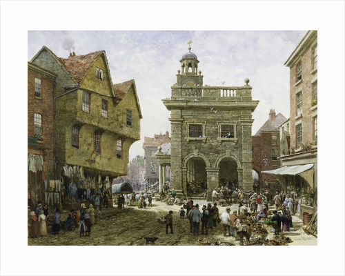 Ludlow Market by Louise Rayner