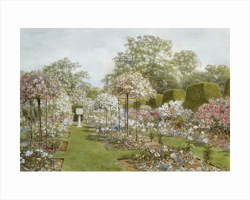 The Rose Garden, Clandon Park, Surrey, England by Thomas H. Hunn