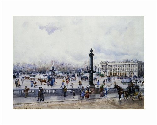 A View of the Place de la Concorde, Paris by Anna Sofia Palm