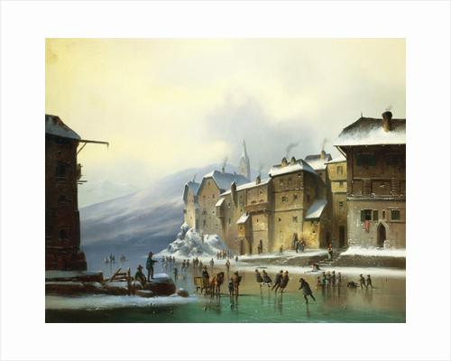 Skating Through the Town by Anton Eduard Doll