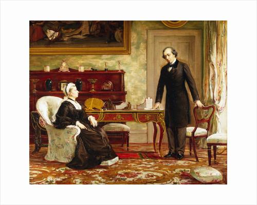 Queen Victoria Interviewing Disraeli at Osborne House by Theodore Blake Wirgman