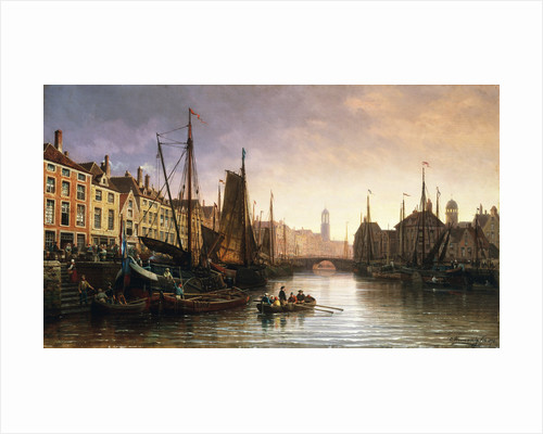 A View of Amsterdam, the Netherlands by Charles Euphrasie Kuwasseg