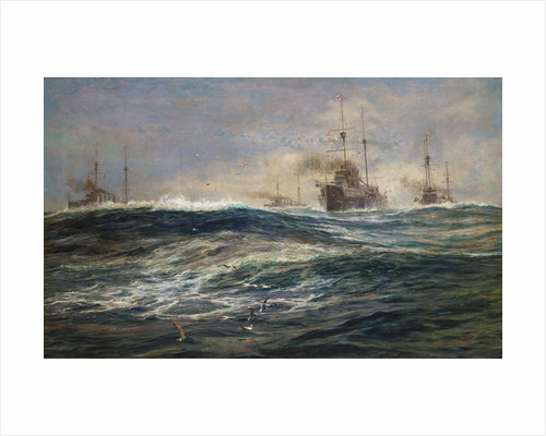 The First Battle Squadron of Dreadnoughts Steaming down the Channel by William Lionel Wyllie