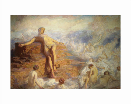 Prometheus Consoled by the Spirits of the Earth by George Spencer Watson