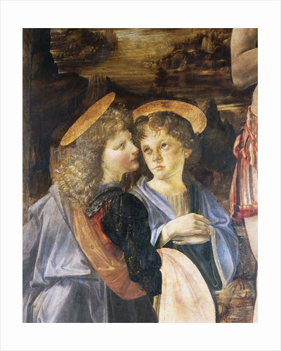 Detail of Baptism of Christ by Andrea del Verrocchio and Leonardo da Vinci by Corbis
