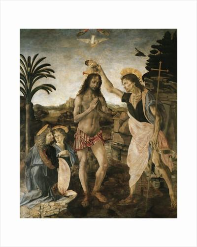 Baptism of Christ by Andrea del Verrocchio and Leonardo da Vinci by Corbis