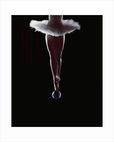 Ballerina Balancing on a Bubble by Corbis