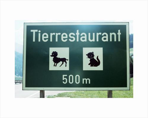 Pet Restaurant Ahead by Corbis